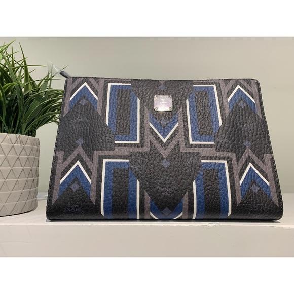 MCM Handbags - Authentic mcm medium stark pouch in gunta m stripe